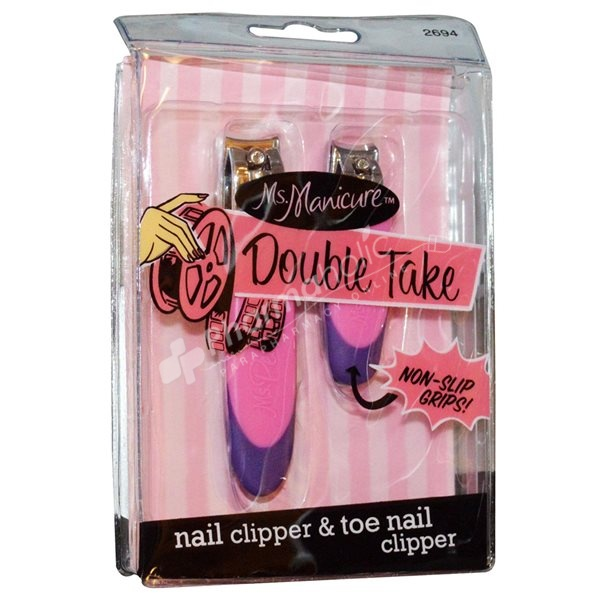 BEAUTY : Ms. Manicure Double Take Nail Clipper & Toe Nail Clipper