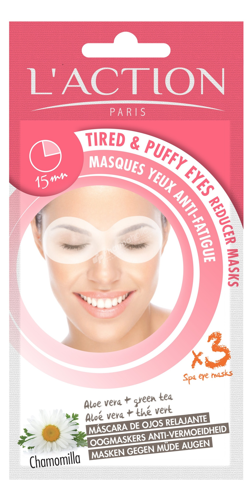 L'action Paris Tired and Puffy Eyes Reducer Spa Eye Masks