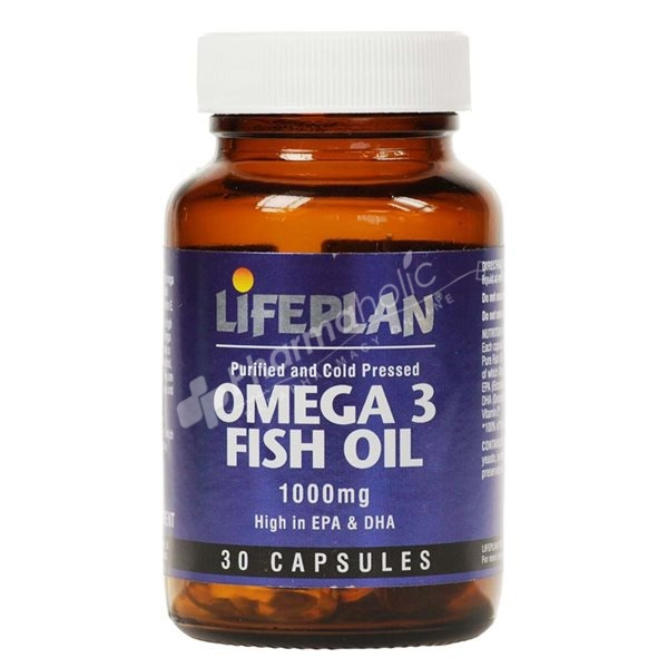 Supplements Lifeplan Omega 3 Fish Oil 1000mg 30 Capsules