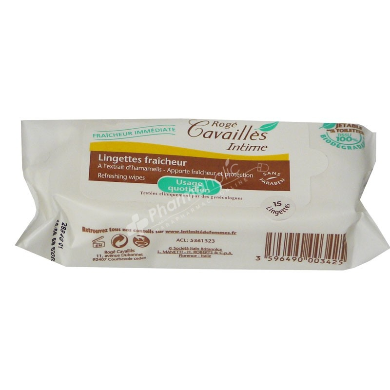 Rogé Cavaillès Intime Refreshing Wipes