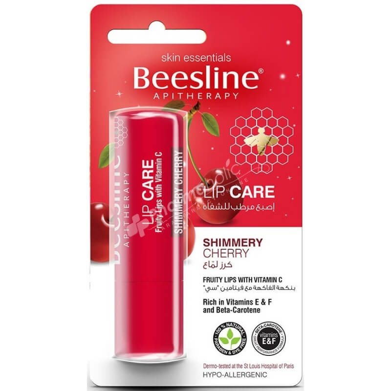 beesline lip care shimmery cherry