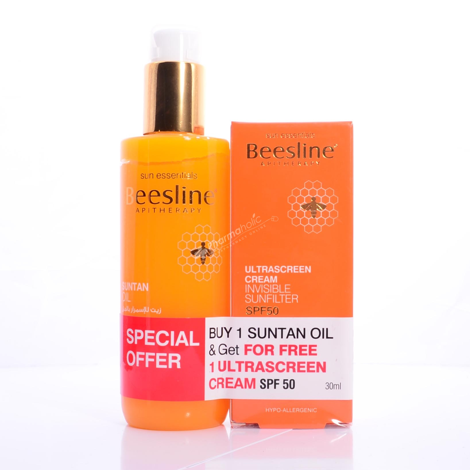 Beesline Suntan Oil 200ml Ultrascreen Cream Spf50