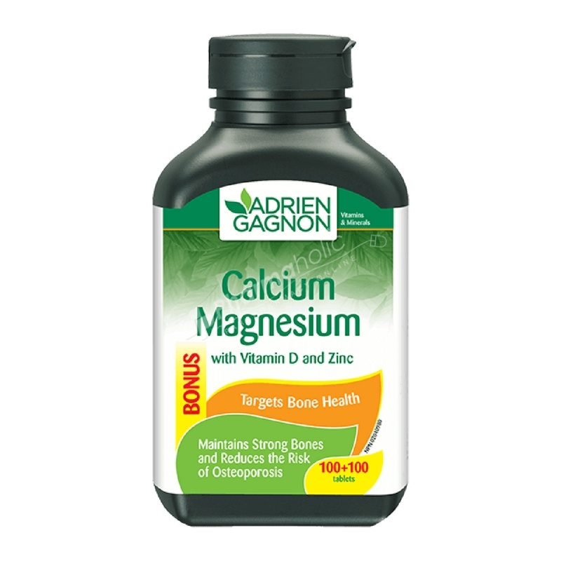 Adrien Gagnon Calcium Magnesium with Vitamin D and Zinc