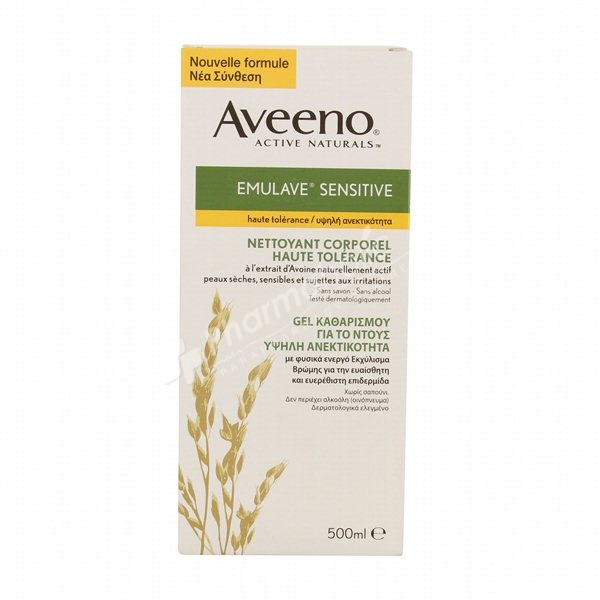 BEAUTY : Aveeno Emulave Sensitive High Tolerance Body Cleanser -500ml-