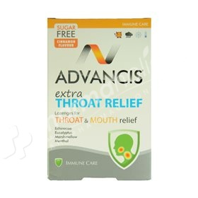 Advancis Extra Throat Relief Cinnamon Flavour