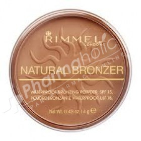 Rimmel London Natural Bronzer Waterproof Bronzing Powder Sun Glow SPF15