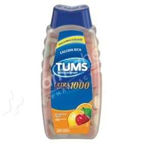 Tums Antacid/Calcium Supplement Ultra Strength 1000 Assorted Fruit