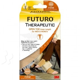 Futuro Therapeutic Open Toe Knee Length Stockings for Men & Women Firm Compression