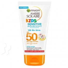 Garnier Ambre Solaire Kids Sensitive Advanced Wet Skin Lotion SPF50