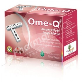 Ome-Q Coenzyme Q10 plus Omega-3 Fish Oil