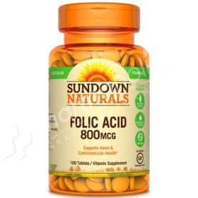 Sundown Naturals Folic Acid 800 mcg