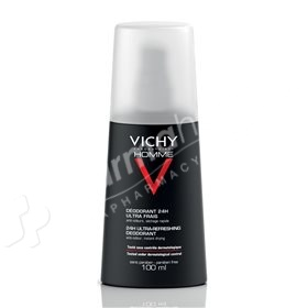 Vichy Homme Ultra-Refreshing Deodorant Spray -100ml-
