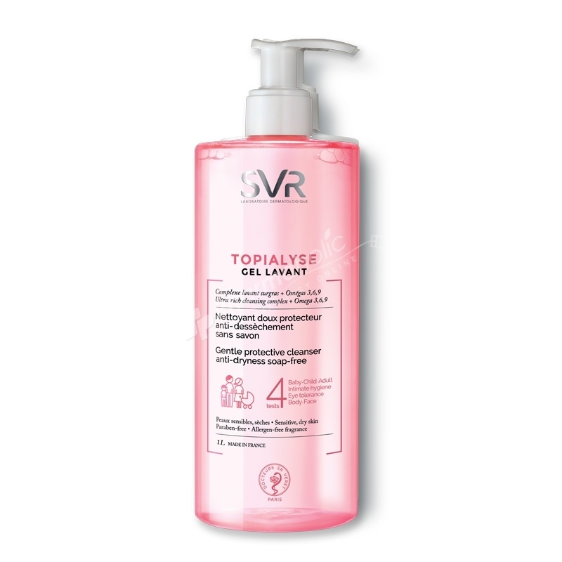 SVR Topialyse Gel Lavant Gentle Protective Cleanser