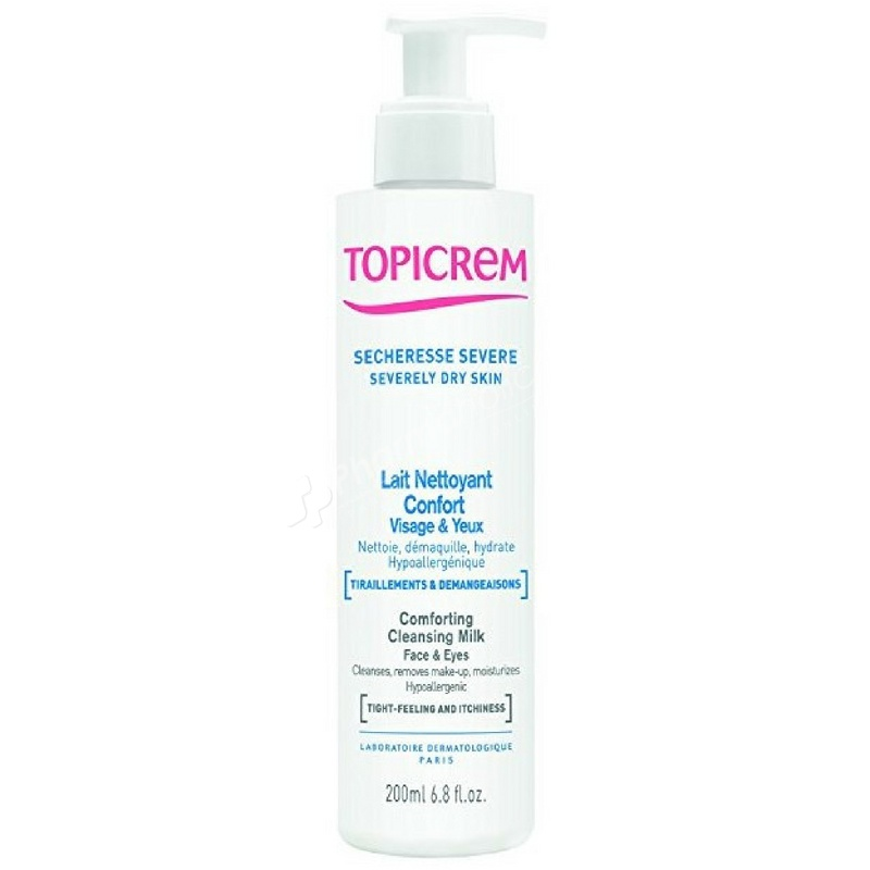 Topicrem Severely Dry Skin Comforting Cleansing Milk Face and Eyes
